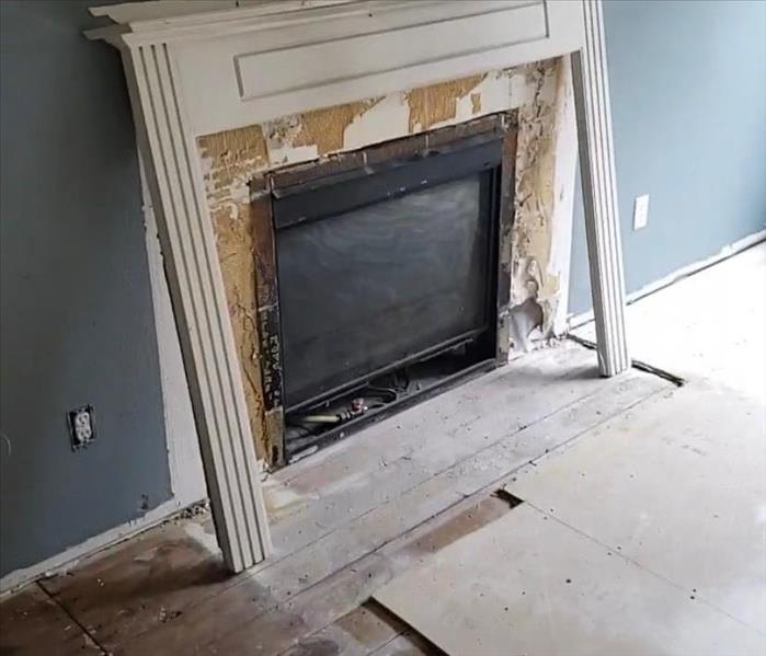 Fireplace and flooring demo